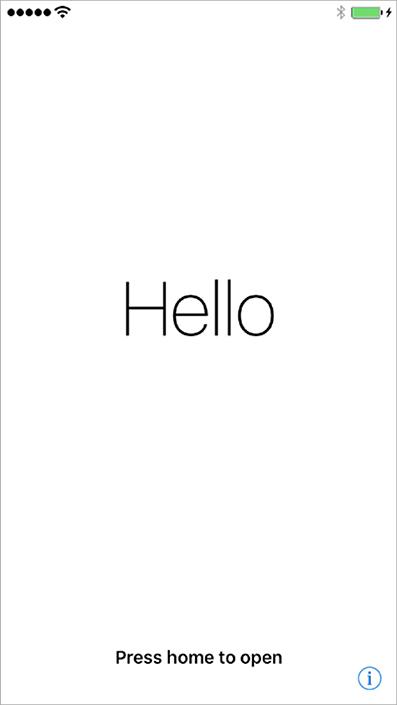 iPhone初期画面