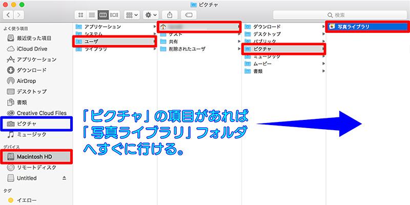 ファイルツリーの画像