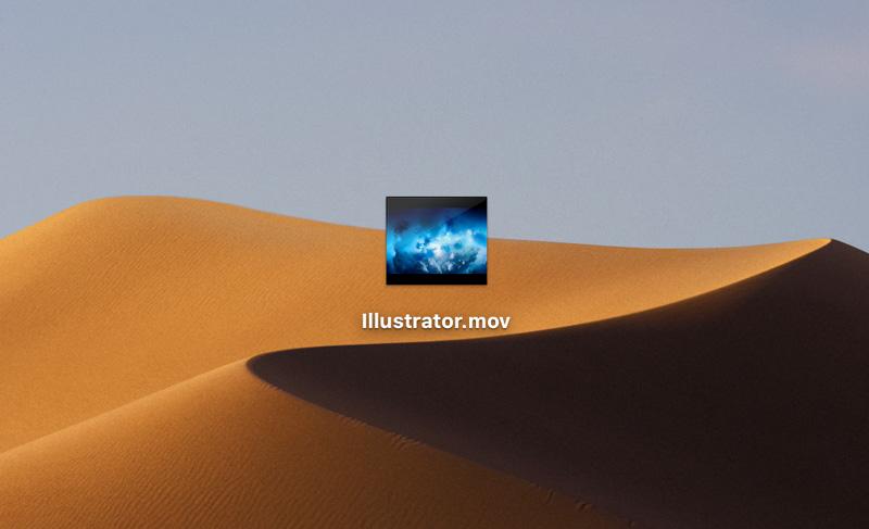 動画ファイルの画像