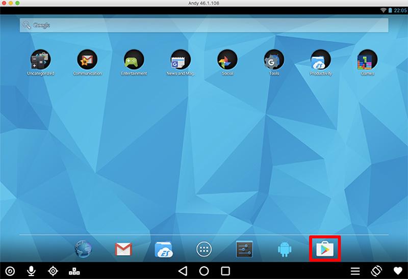 Google Playストアを起動